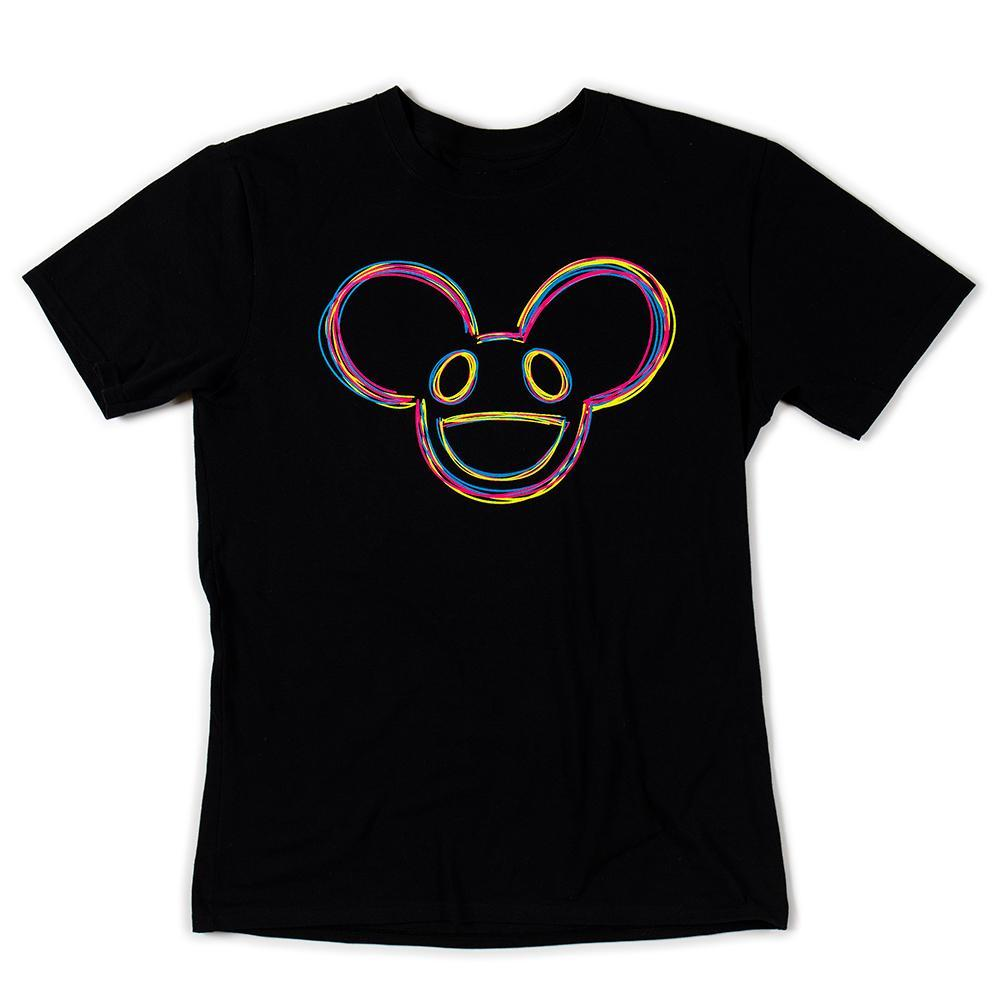 100% Cotton - Kidrobot X Deadmau5 Fluorescent Mau5head T-Shirt (S-XL)