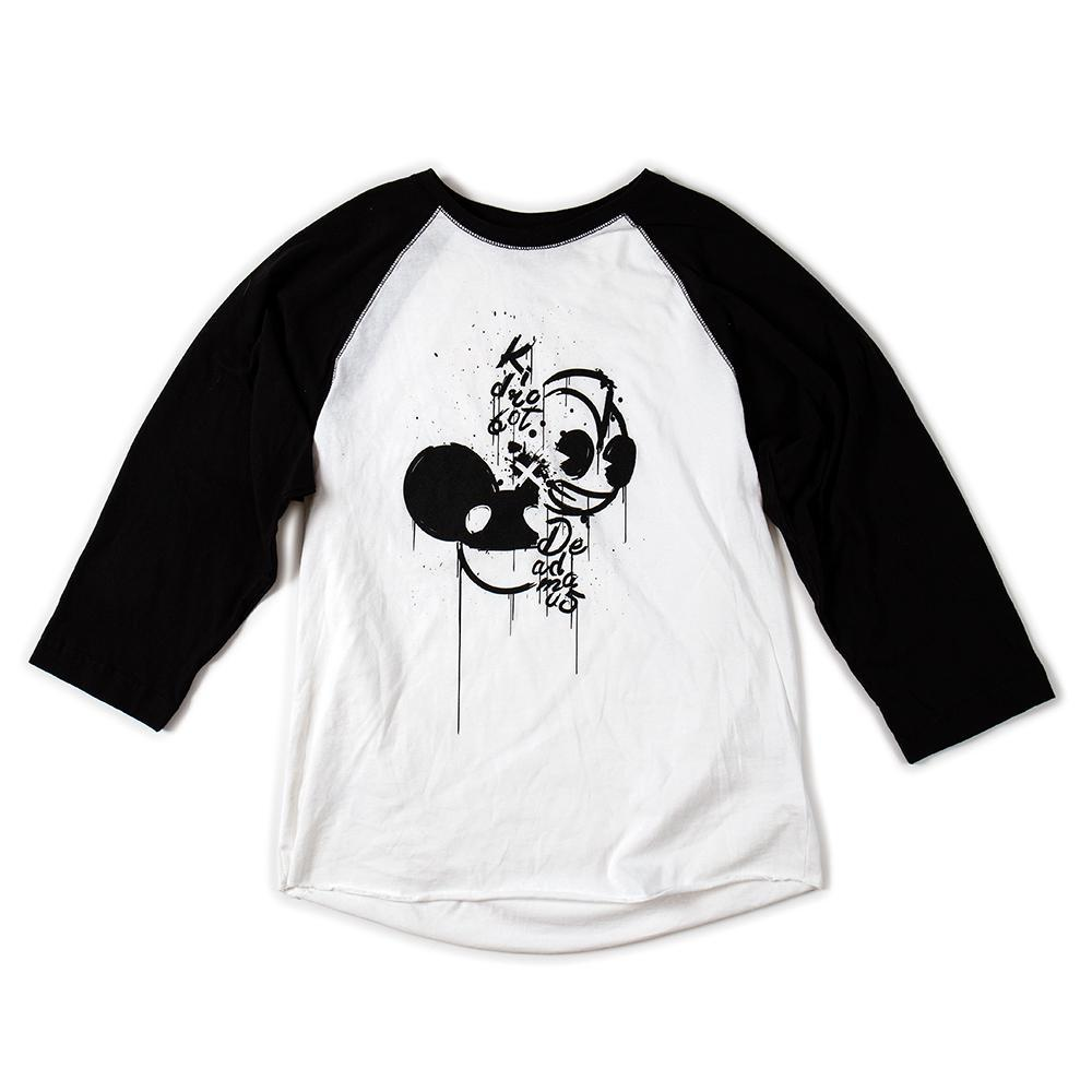 100% Cotton - Kidrobot X Deadmau5 Mashup 3/4 Sleeve Tee Shirt (S-XL)