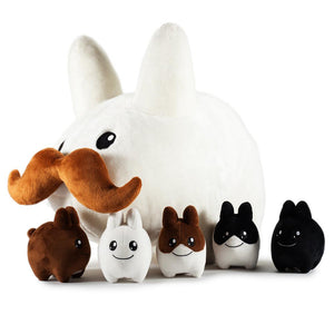 "24"" Stache Labbit with Littons Plush - Kidrobot - Designer Art Toys"