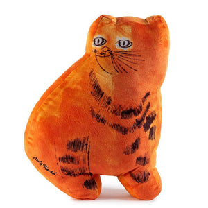100% Polyester - Andy Warhol Orange Sam The Cat Plush By Kidrobot
