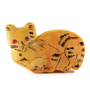 100% Polyester - Andy Warhol Yellow Sam The Cat Plush By Kidrobot