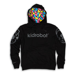 100% Polyester - Bot Head Sleeve Print Pullover Hoodie