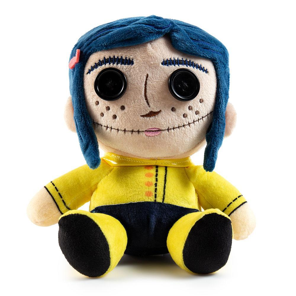 100 polyester coraline with button eyes phunny plush by kidrobot 1