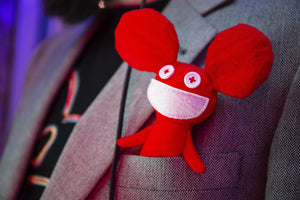 100% Polyester - Kidrobot X Deadmau5 Red Mau5 Plush