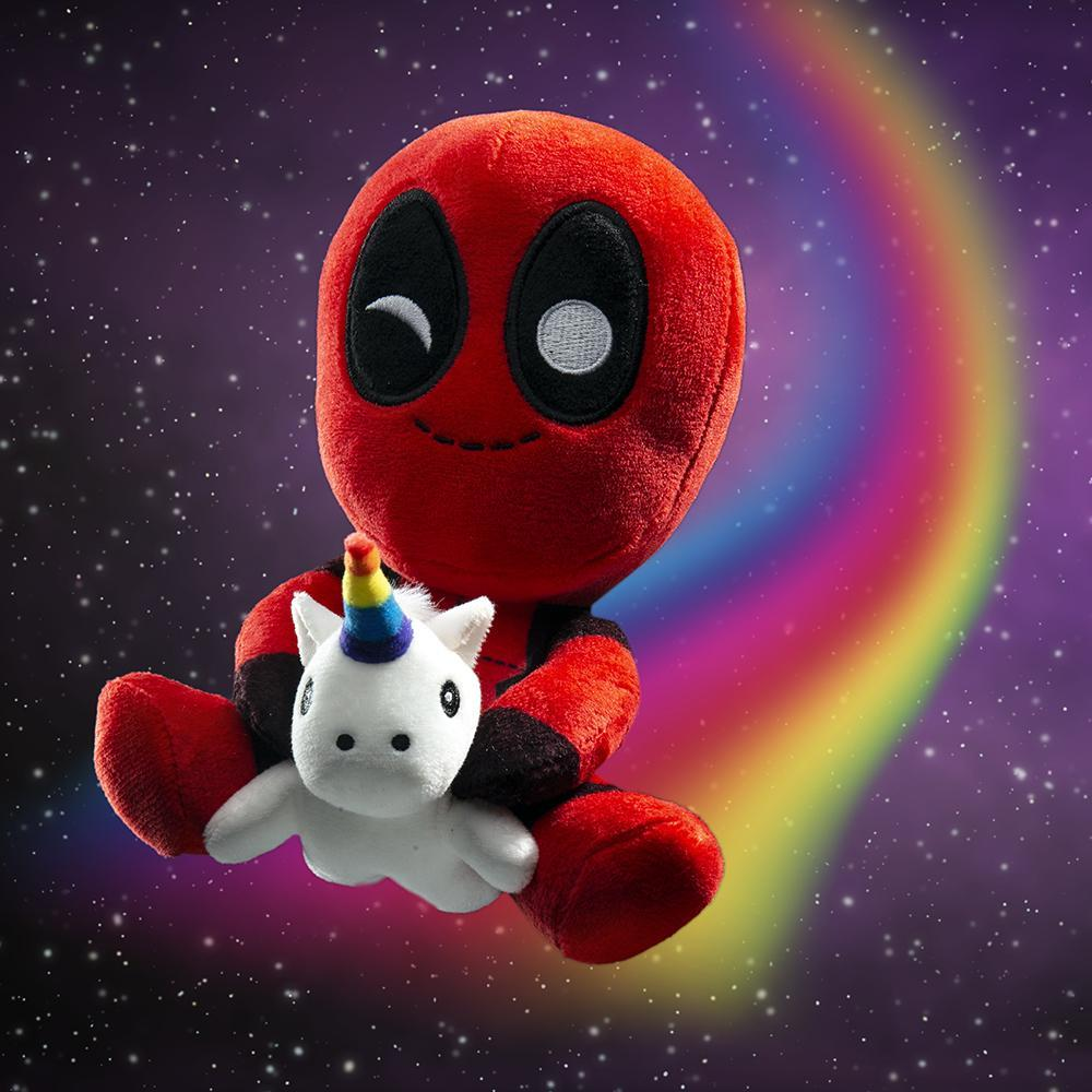 Marvel Deadpool Riding a Unicorn Plush - Kidrobot - Designer Art Toys