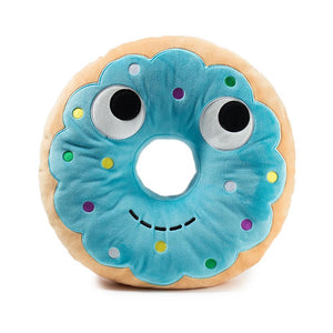 100% Polyester - Yummy World Blue Donut Plush Food Pillow