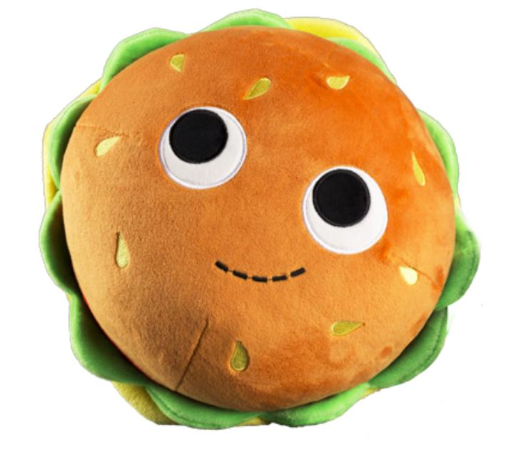 100% Polyester - Yummy World Medium Bunford Burger Plush