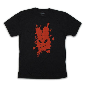 50% COTTON / 25% POLY / 25% MODAL - Splatter Labbit Tee By Frank Kozik