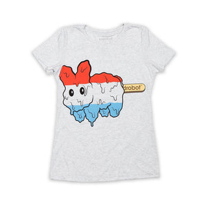 50% COTTON / 25% POLY / 25% MODAL - Women's Popsicle Labbit Tee