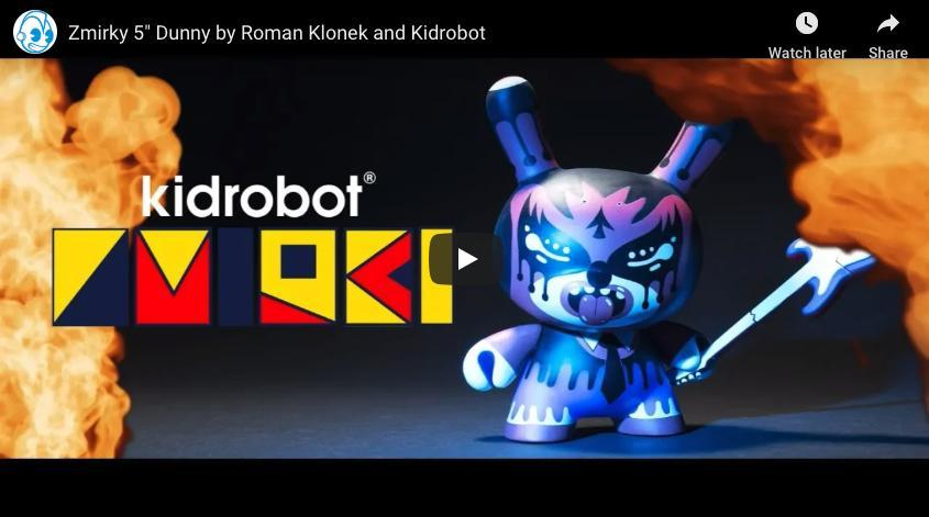 50% POLY, 25% COTTON, 25% RAYON - Limited Edition Kidrobot Dunny T-Shirt By Roman Klonek