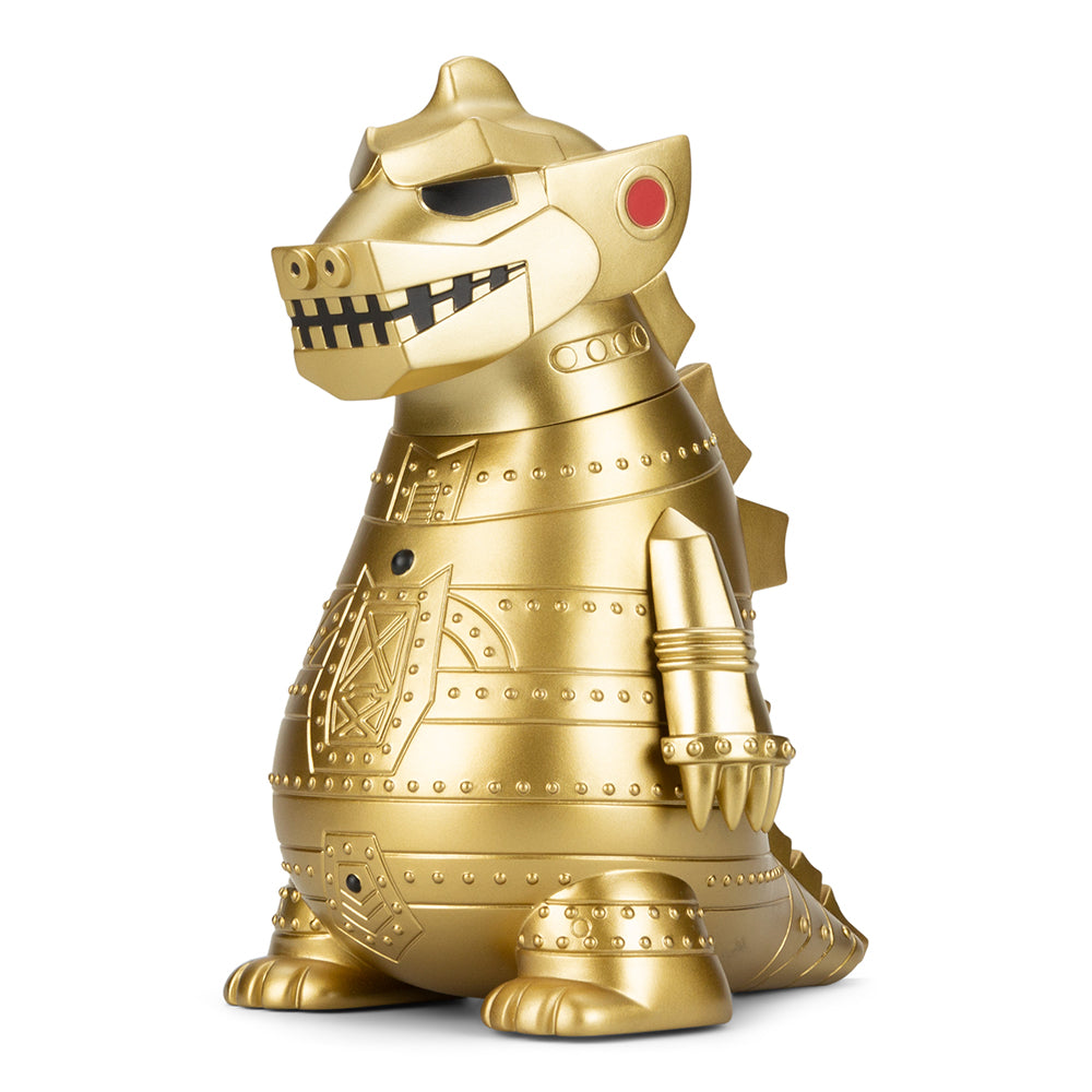 "MechaGodzilla 65th Anniversary 8"" Art Figure by Kidrobot – MechaGOLDzilla Edition - Kidrobot - Designer Art Toys"