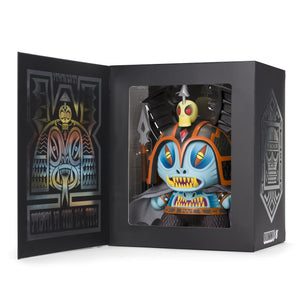 "Harbinger 8"" Dunny Art Figure by Martin Ontiveros - Blue Edition - Kidrobot - Designer Art Toys"