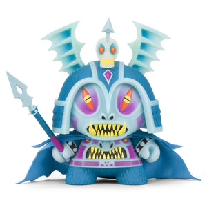 "Harbinger 8"" Dunny Art Figure by Martin Ontiveros - Kidrobot.com Exclusive GID Blue Edition - Kidrobot - Designer Art Toys"