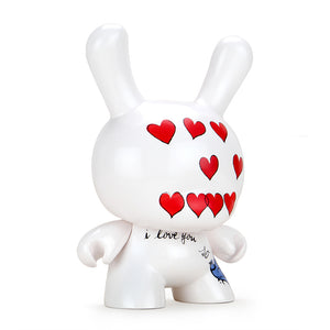 "Andy Warhol 8"" Masterpiece ""I Love You So"" Dunny - Love Museum Exclusive - Kidrobot - Designer Art Toys"