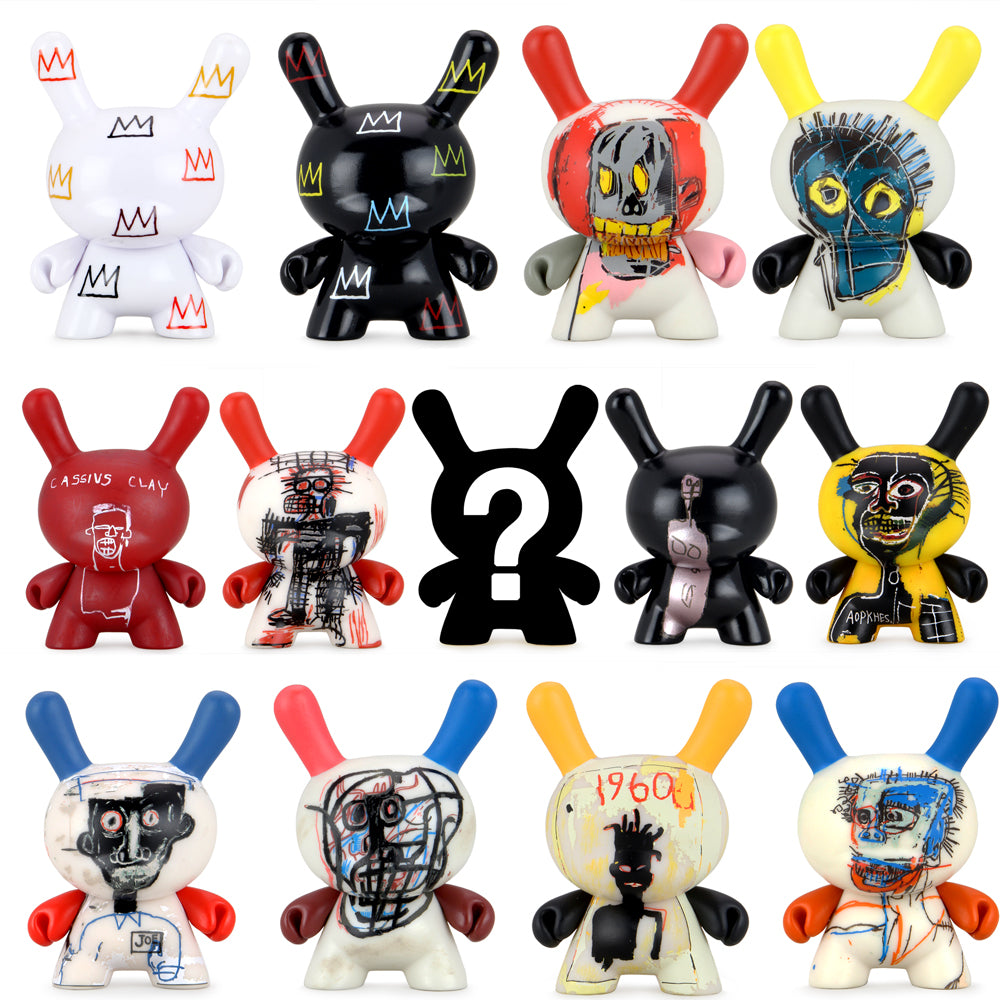 Jean-Michel Basquiat Faces Dunny Art Figure Series 2 by Kidrobot