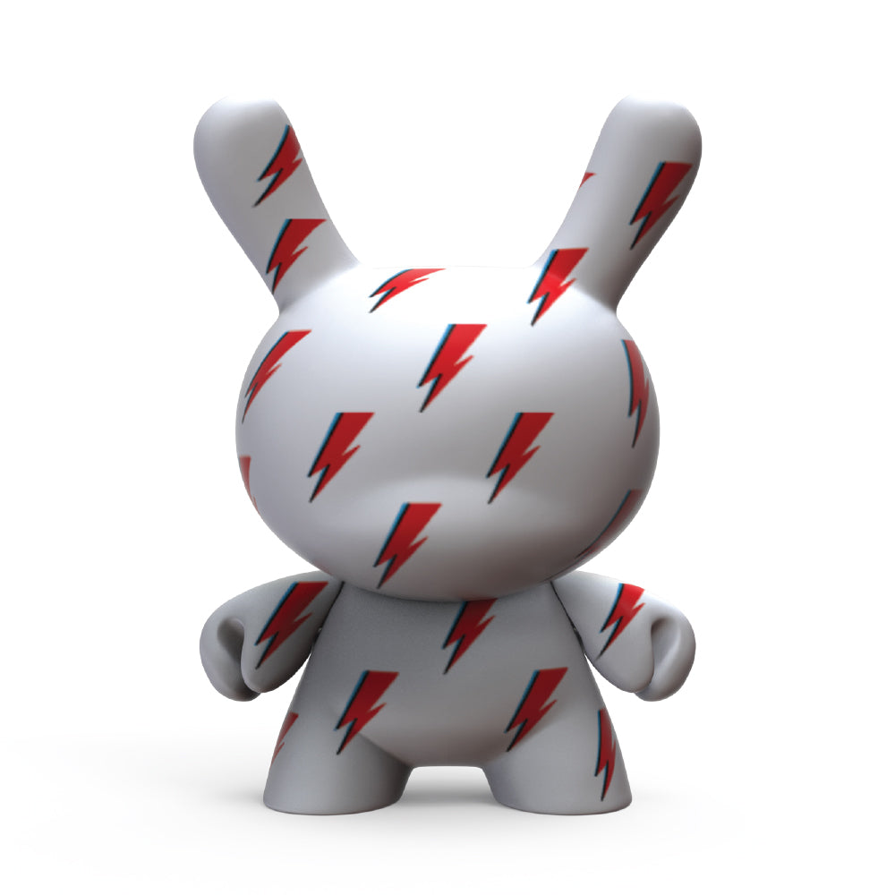 "David Bowie ICON Lightning Bolt 8"" Dunny Art Figure (PRE-ORDER - Kidrobot - Designer Art Toys"