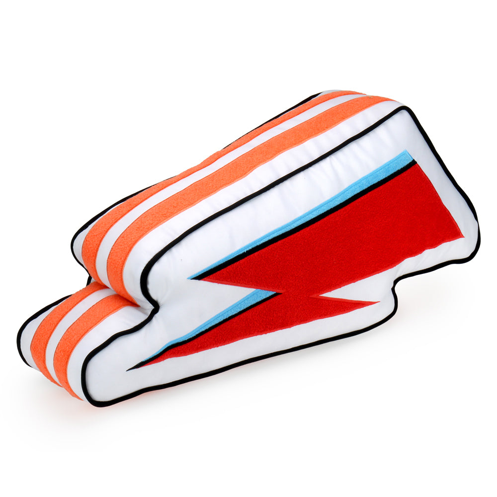Kidrobot x David Bowie Lightning Bolt Pillow - Electric White (PRE-ORDER) - Kidrobot - Designer Art Toys