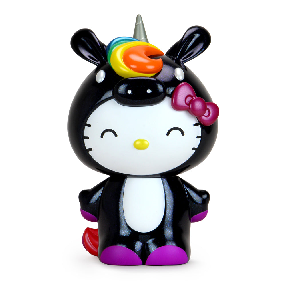 "Kidrobot x Hello Kitty® Unicorn 8"" Vinyl Art Figure - Midnight Rainbow Edition - Kidrobot - Designer Art Toys"