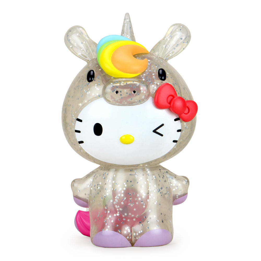 "Kidrobot x Hello Kitty® Unicorn 8"" Vinyl Art Figure - Exclusive Glitter Edition - Kidrobot - Designer Art Toys"