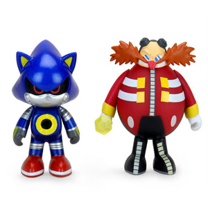 "Sonic the Hedgehog 3"" Vinyl Figure Dr. Robotnic and Metal Sonic 2-Pack (PRE-ORDER) - Kidrobot - Designer Art Toys"