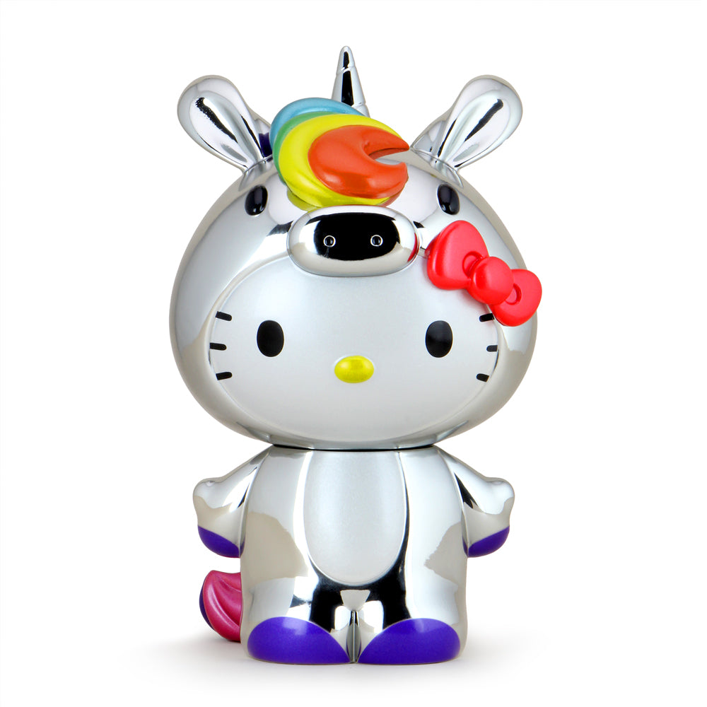 "Hello Kitty® Unicorn 8"" Vinyl Art Figure - NYCC Exclusive Chrome Edition (PRE-ORDER) - Kidrobot - Designer Art Toys"