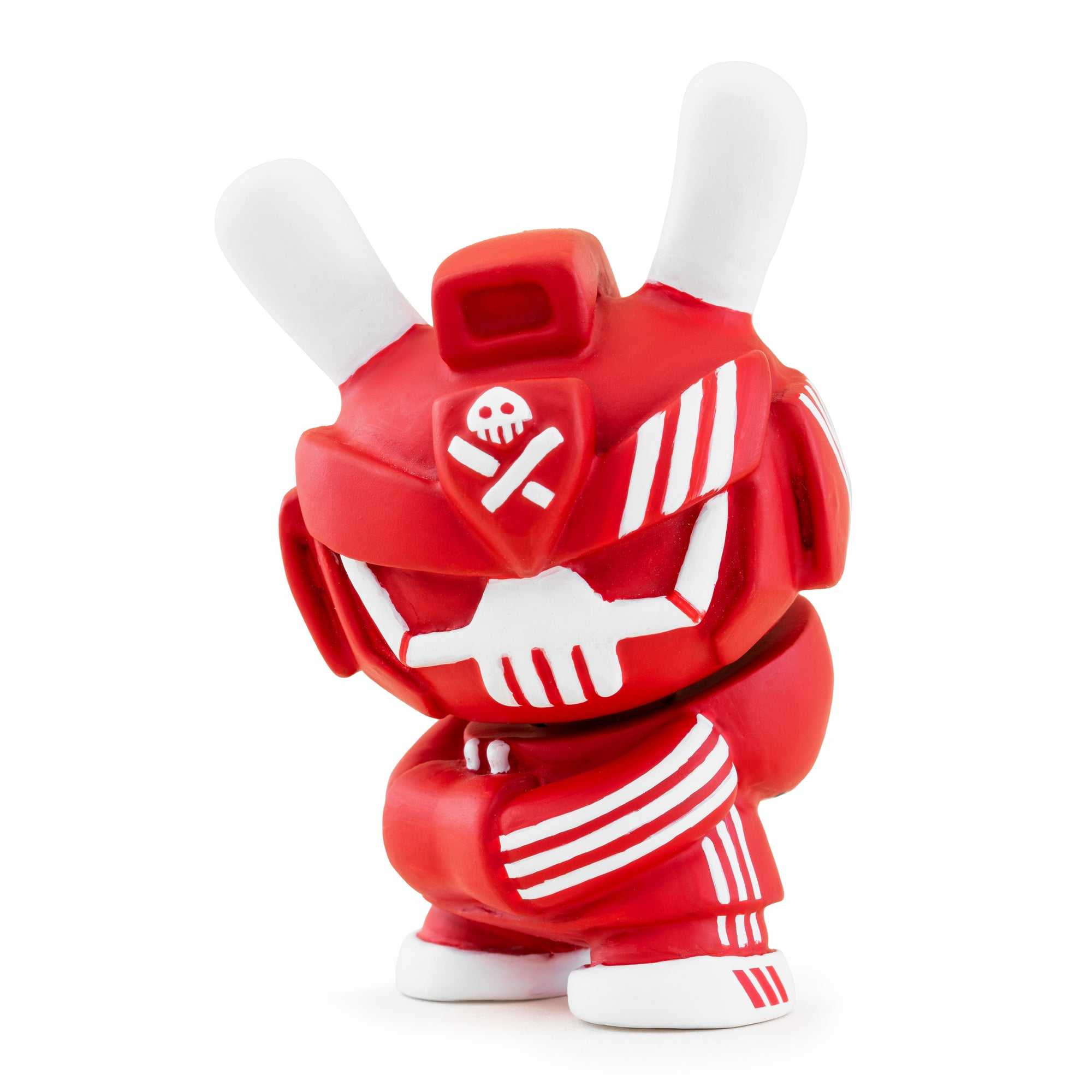 Red Nakai OG Resin BabyTEQ Dunny + K9 by Quiccs (Signed + Numbered) - Kidrobot