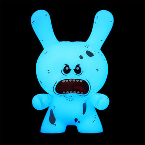 "Rick and Morty Mr. Meeseeks 8"" Dunny - NYCC Exclusive Diseased GID Edition - Kidrobot - Designer Art Toys"