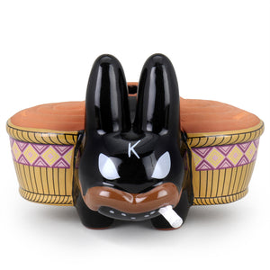 Chia Pet Smorkin Labbit by Frank Kozik - Exclusive Black Edition - Kidrobot - Designer Art Toys