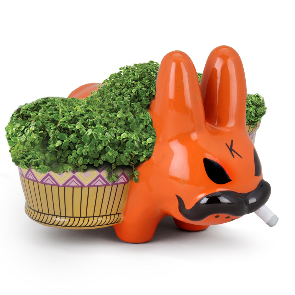 Chia Pet Smorkin Labbit by Frank Kozik - Exclusive Orange Edition - Kidrobot - Designer Art Toys