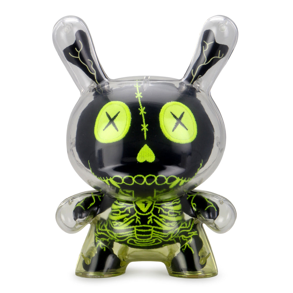"Gashadokuro 8"" Plush Guts Dunny Art Figure - Black Edition - Kidrobot - Designer Art Toys"