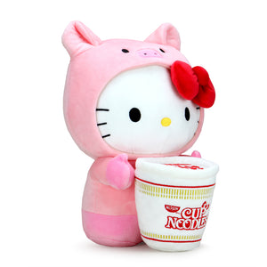 Nissin Cup Noodles x Hello Kitty® Pork Cup Medium Plush (PRE-ORDER) - Kidrobot - Designer Art Toys