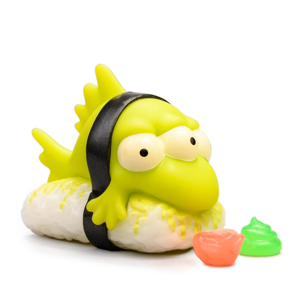 "Blinky Nigiri 3"" Art Figure - Radioactive GID Edition - The Simpsons x Kidrobot - Kidrobot - Designer Art Toys"