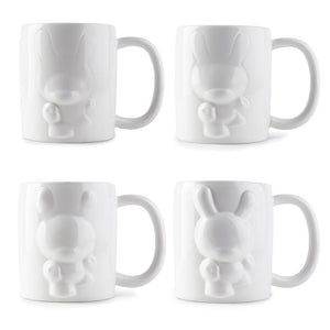 Emerging Dunny 4-Piece Mug Set by Kidrobot - Kidrobot