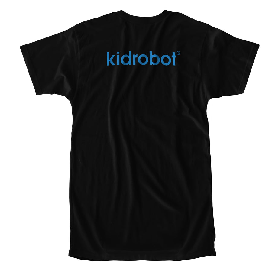 Cotton - Limited Edition Kidrobot Blue Bothead Signature Black T-Shirt (S-XL)