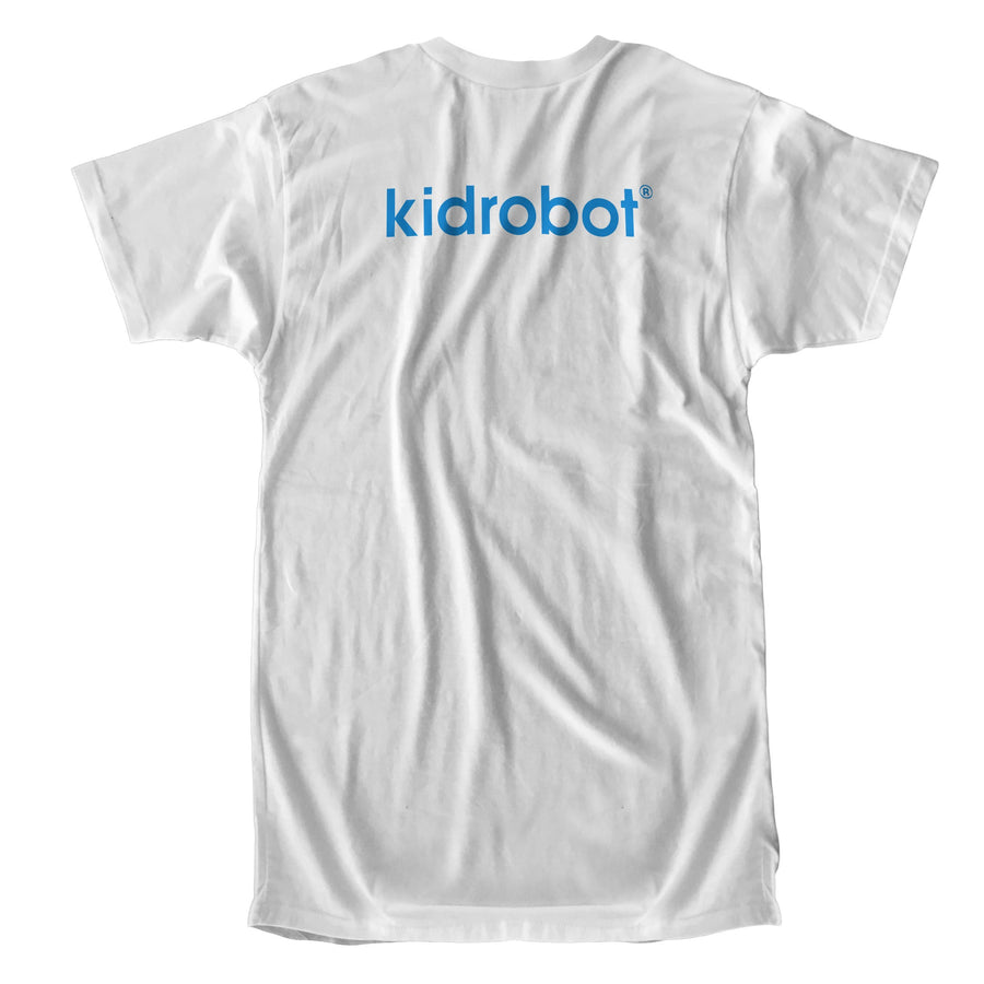Cotton - Limited Edition Kidrobot Blue Signature Bothead White T-Shirt (S-XL)