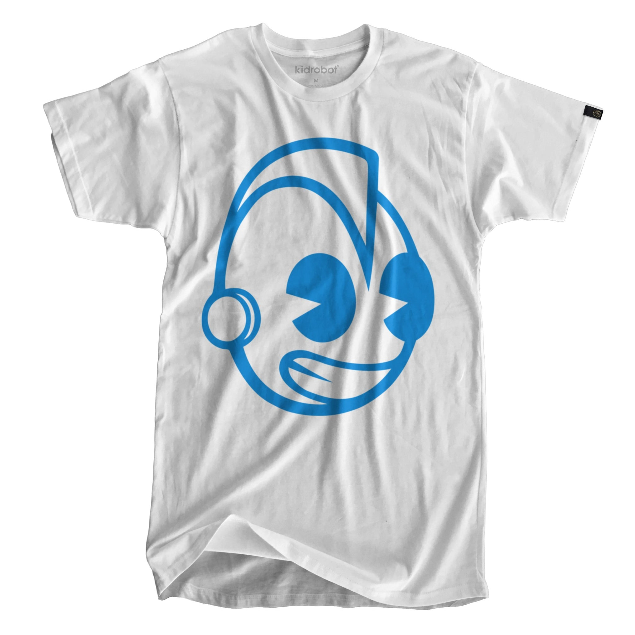 Cotton - Limited Edition Kidrobot Blue Signature Bothead White T-Shirt (XXL)