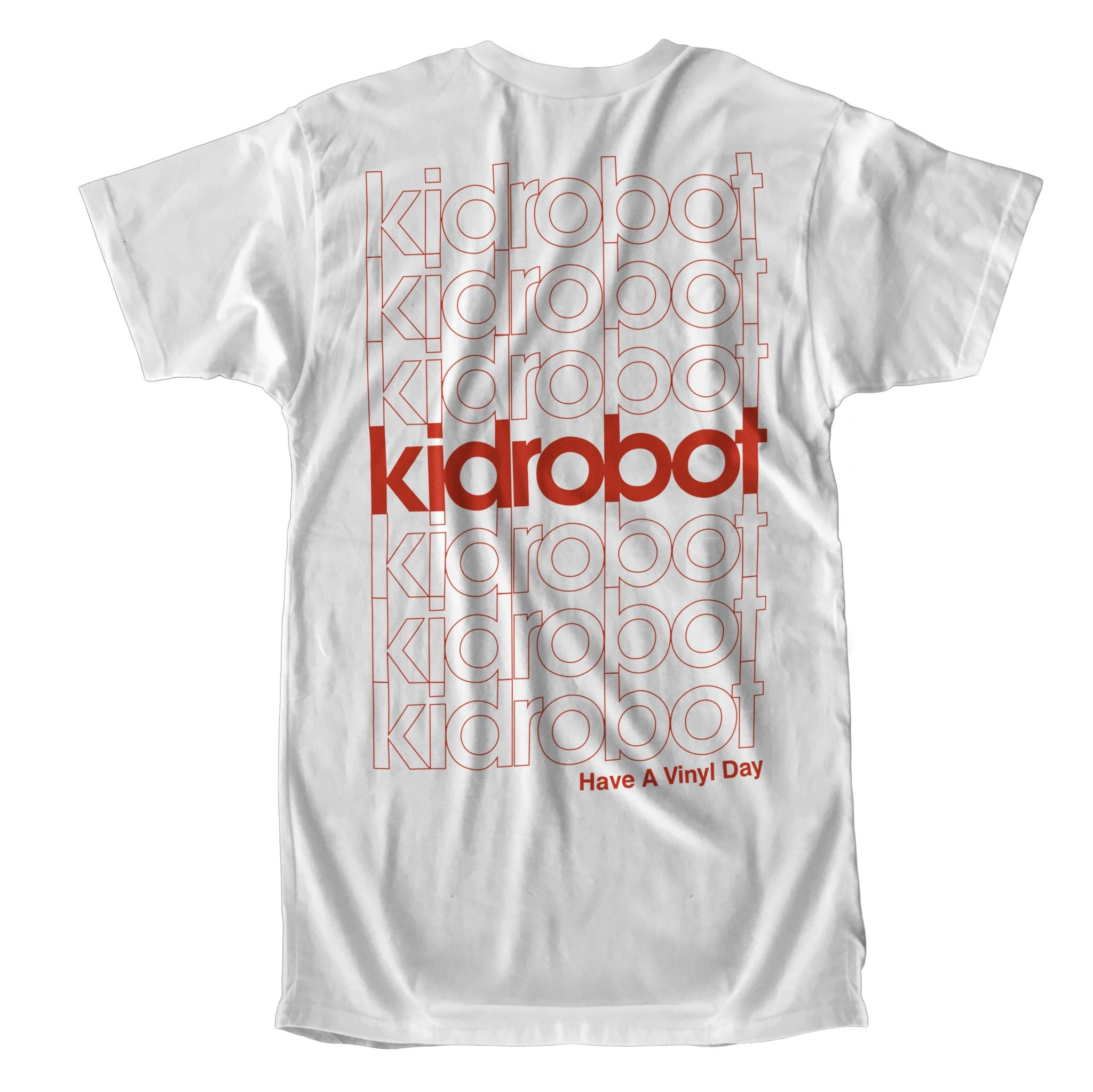 Limited Edition Kidrobot Have a Vinyl Day White Pocket T-Shirt (S-XXL) - Kidrobot - Designer Art Toys