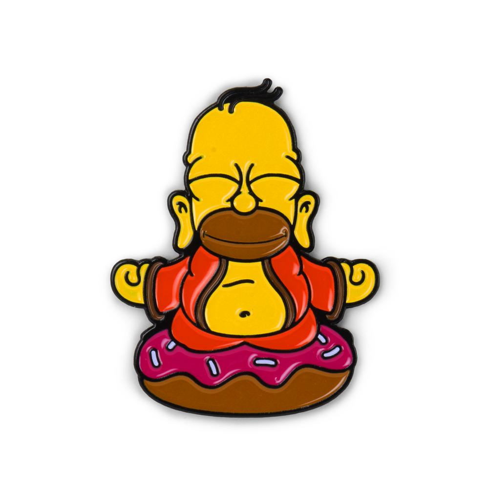 "The Simpsons Homer Buddha 1.5"" Enamel Pin - Kidrobot - Designer Art Toys"