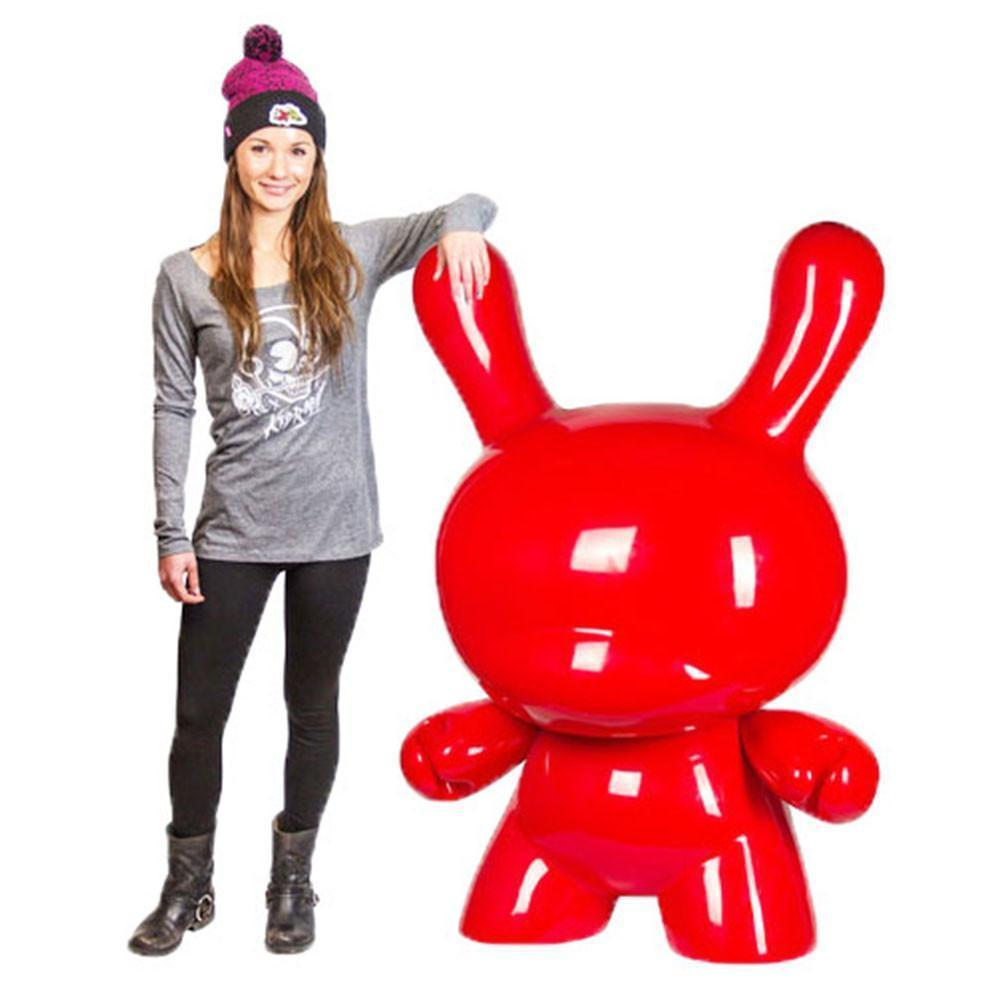Art Giant Red 4-Foot Dunny Art Sculpture by Kidrobot - Kidrobot - Designer Art Toys