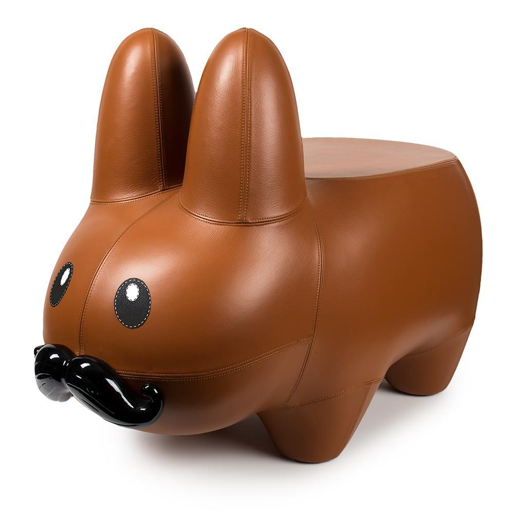 Fiberglass/Leather - Leather Happy Labbit Stool