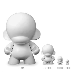 MUNNYWORLD Monsta Munny 4 Foot Art Giant by Kidrobot - Primed White Edition - Kidrobot - Designer Art Toys