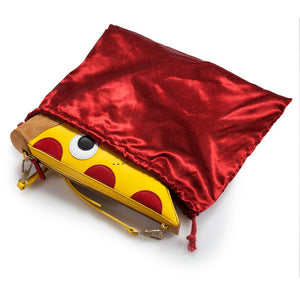 Yummy World Leather Pizza Clutch Purse Bag - Kidrobot - Designer Art Toys