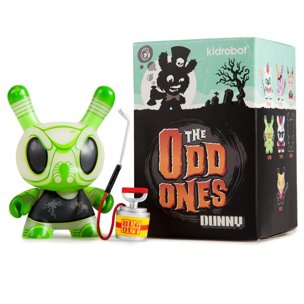 "Glow in the Dark Bugga Bugga 3"" Dunny Mini Figure by Scott Tolleson - Kidrobot"