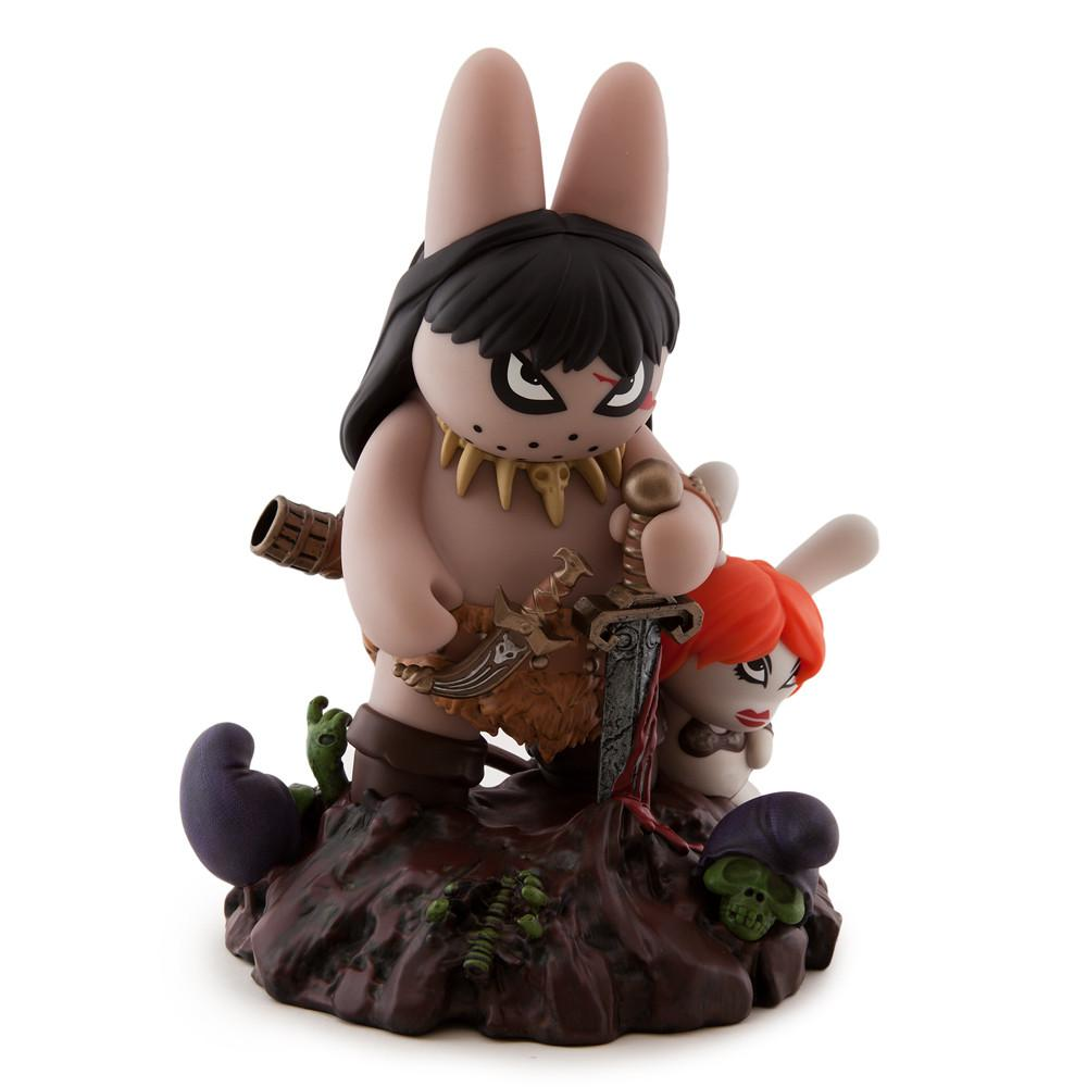 "Frazetta Labbit the Barbarian 10"" Vinyl Art Figure by Frank Kozik - Kidrobot - Designer Art Toys"