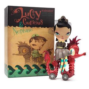 None - Lucy Curious Dark Harbor Art Figure By Kathie Olivas