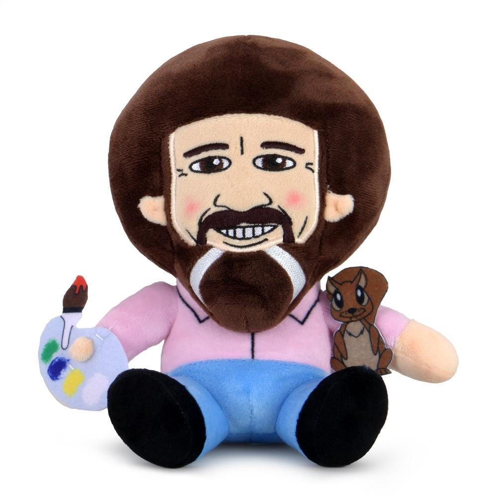 "Bob Ross with Peapod 8"" Plush Phunny - Kidrobot - Designer Art Toys"