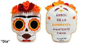 "Frida Kahlo Day of the Dead 12"" Plush Pillow - Dia Edition (PRE-ORDER) - Kidrobot - Designer Art Toys"