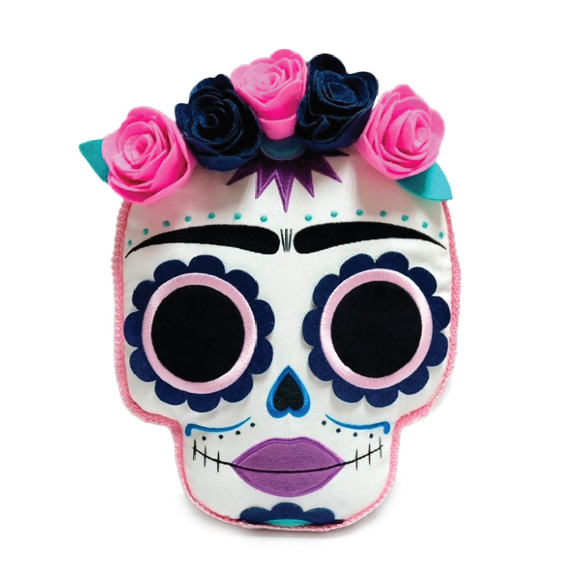 "Frida Kahlo Day of the Dead 12"" Plush Pillow - Noche Edition (PRE-ORDER) - Kidrobot - Designer Art Toys"