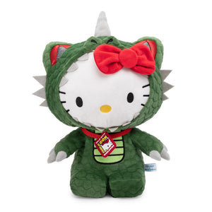 Hello Kitty Kaiju Dinosaur Cosplay Plush by Kidrobot x Sanrio - Kidrobot - Designer Art Toys