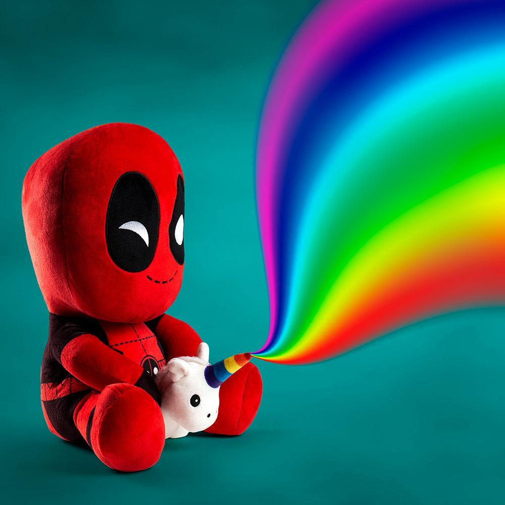 Marvel Deadpool Riding a Unicorn HugMe Vibrating Plush